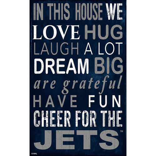 Winnipeg Jets In This House 11x19 Sign
