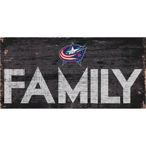 Columbus Blue Jackets Family 6x12