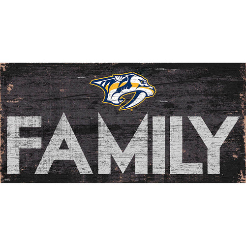 Nashville Predators Family 6x12