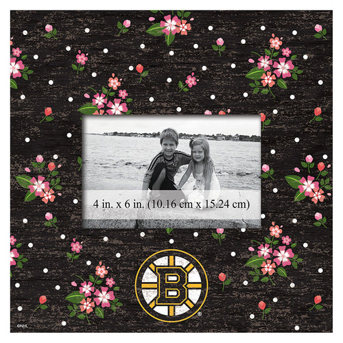Boston Bruins Floral 10x10 Frame