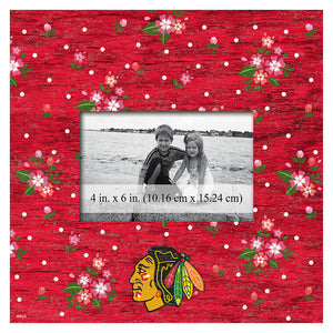Chicago Blackhawks Floral 10x10 Frame