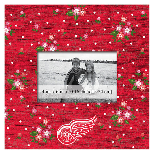 Detroit Red Wings Floral 10x10 Frame