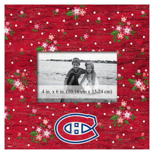 Montreal Canadiens Floral 10x10 Frame