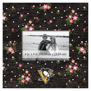 Pittsburgh Penguins Floral 10x10 Frame