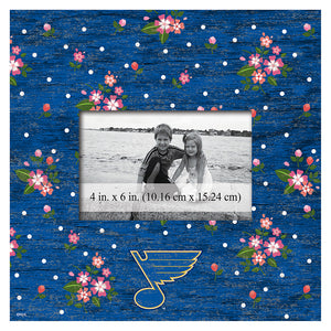 St.Louis Blues Floral 10x10 Frame
