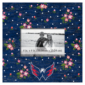 Washington Capitals Floral 10x10 Frame