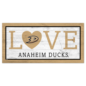 Anaheim Ducks Love 6x12 Sign