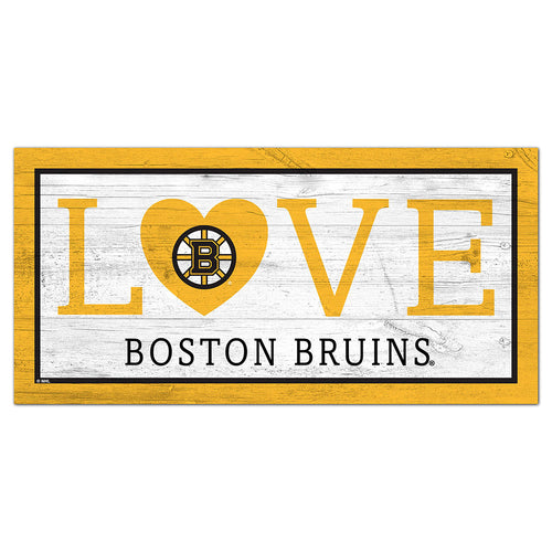 Boston Bruins Love 6x12 Sign