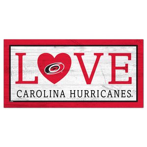 Carolina Hurricanes Love 6x12 Sign