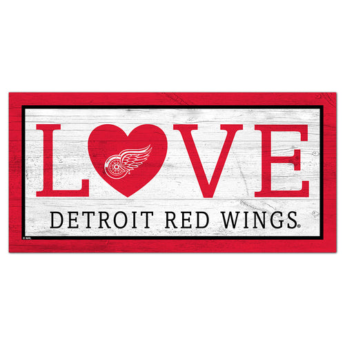 Detroit Red Wings Love 6x12 Sign