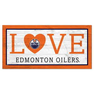 Edmonton Oilers Love 6x12 Sign
