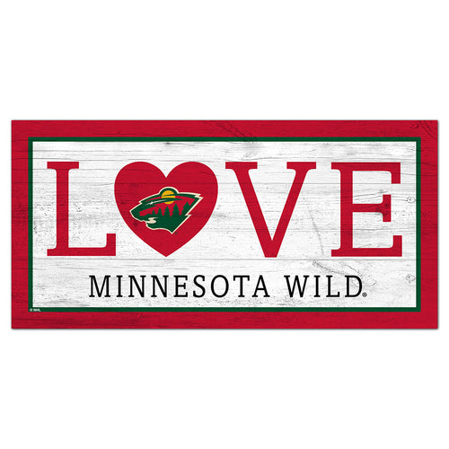 Minnesota Wild Love 6x12 Sign
