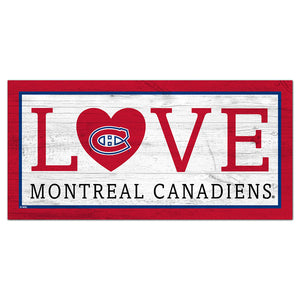 Montreal Canadiens Love 6x12 Sign