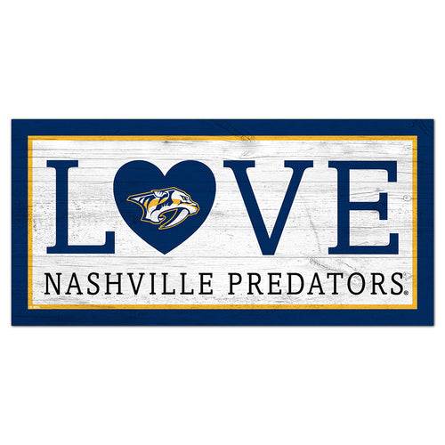 Nashville Predators Love 6x12 Sign