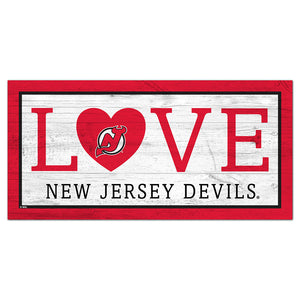 New Jersey Devils Love 6x12 Sign
