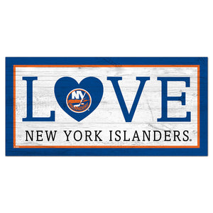 New York Islanders Love 6x12 Sign