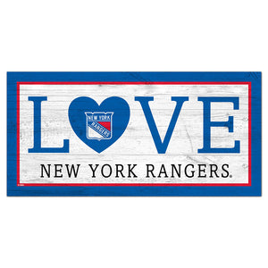 New York Rangers Love 6x12 Sign