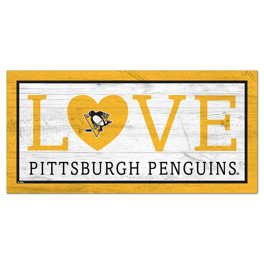 Pittsburgh Penguins Love 6x12 Sign