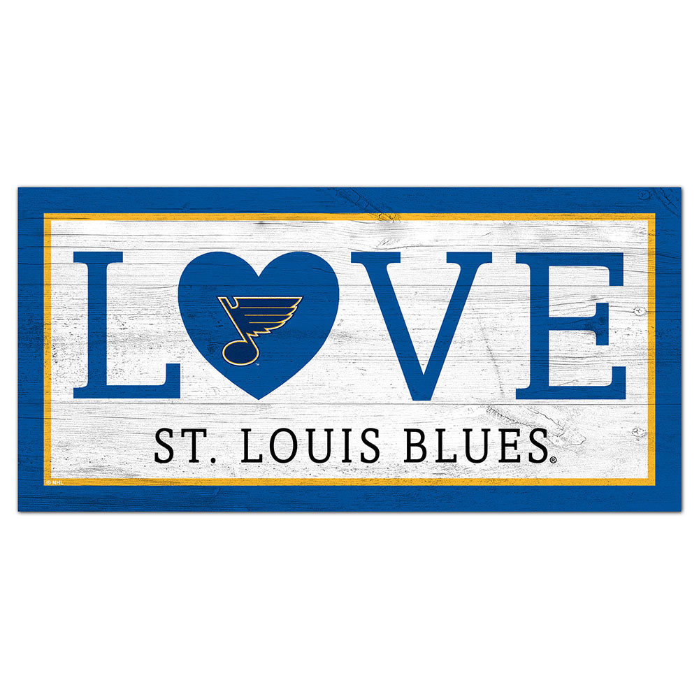 St.Louis Blues Love 6x12 Sign