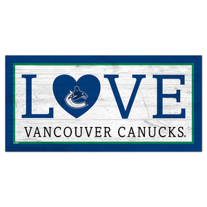 Vancouver Canucks Love 6x12 Sign