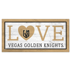 Vegas Golden Knights Love 6x12 Sign