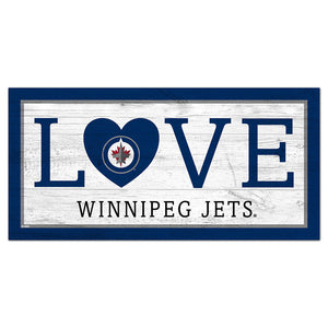 Winnipeg Jets Love 6x12 Sign