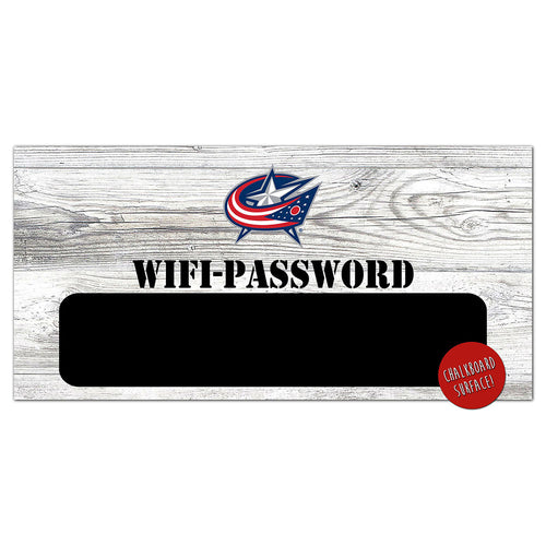 Columbus Blue Jackets Wifi Password 6x12 Sign