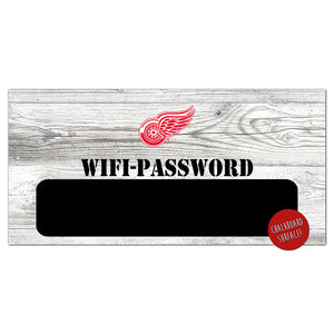Detroit Red Wings Wifi Password 6x12 Sign