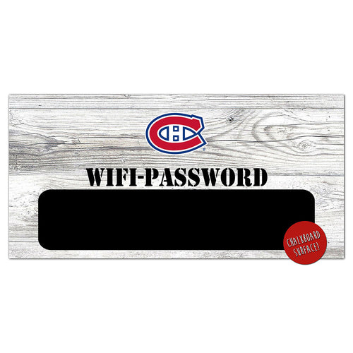 Montreal Canadiens Wifi Password 6x12 Sign