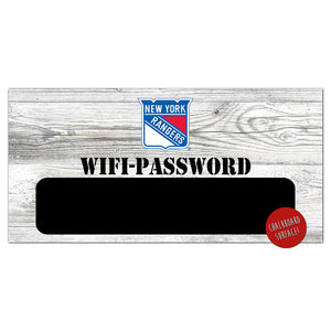 New York Rangers Wifi Password 6x12 Sign