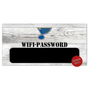 St.Louis Blues Wifi Password 6x12 Sign
