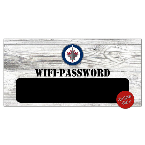 Winnipeg Jets Wifi Password 6x12 Sign