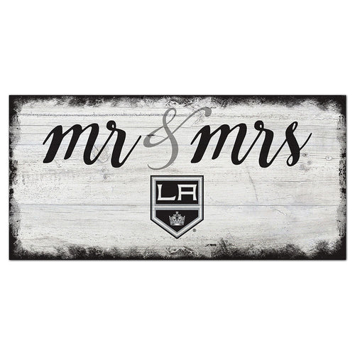 Los Angeles Kings Script Mr & Mrs 6x12 Sign