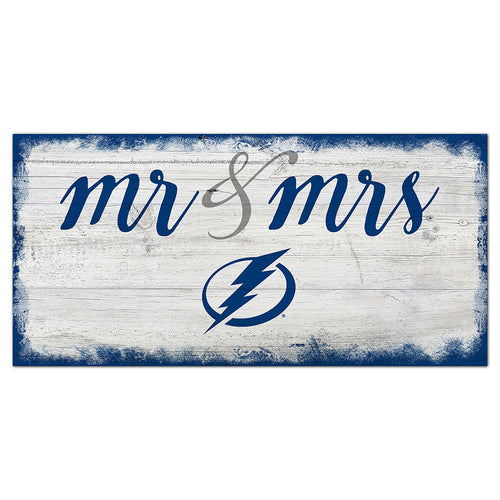 Tampa Bay Lightning Script Mr & Mrs 6x12 Sign