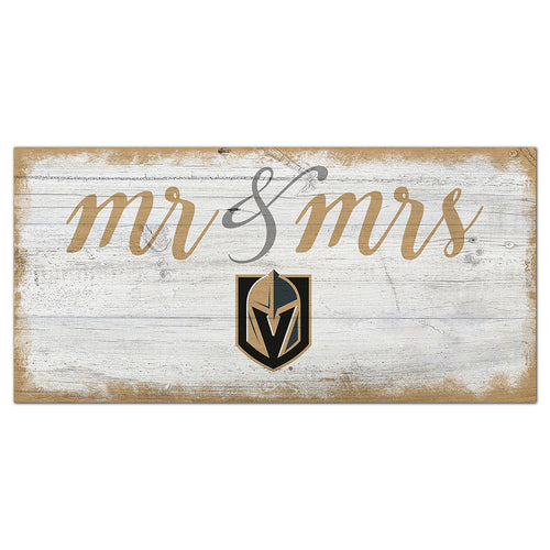 Vegas Golden Knights Script Mr & Mrs 6x12 Sign