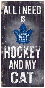Toronto Maple Leafs Hockey and My Cat Sign