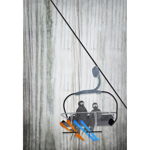 Ski Lift Art 11x19in