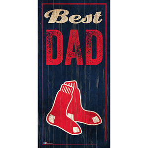 Boston Red Sox Best Dad 6x12 Sign