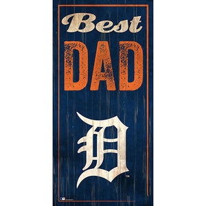 Detroit Tigers Best Dad 6x12 Sign
