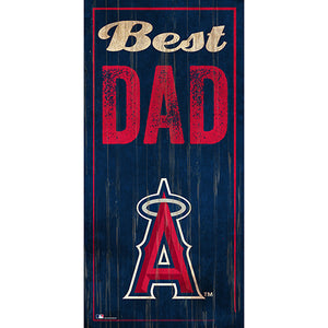 Los Angeles Angels  Best Dad 6x12 Sign