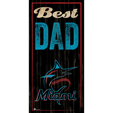 Miami Marlins Best Dad 6x12 Sign
