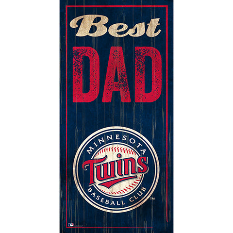 Minnesota Twins  Best Dad 6x12 Sign