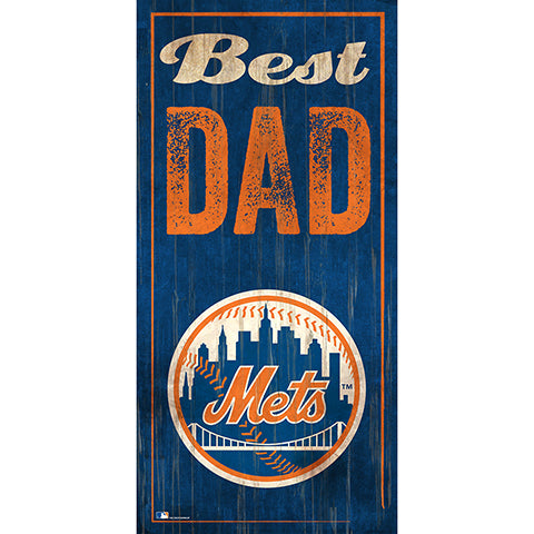 New York Mets Best Dad 6x12 Sign