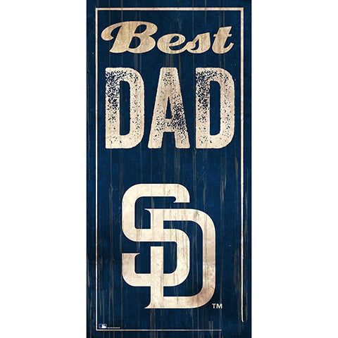 San Diego Padres Best Dad 6x12 Sign
