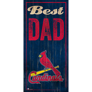 St. Louis Cardinals Best Dad 6x12 Sign