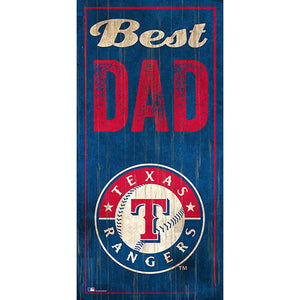 Texas Rangers Best Dad 6x12 Sign