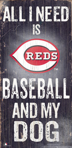 Cincinnati Reds Baseball and My Dog Sign