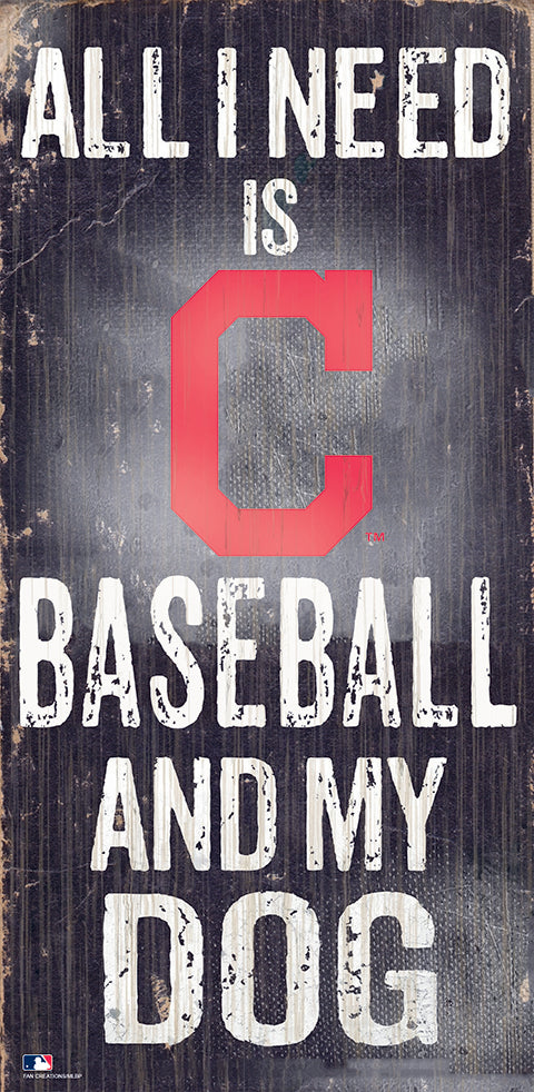 Cleveland Indians Baseball and My Dog Sign