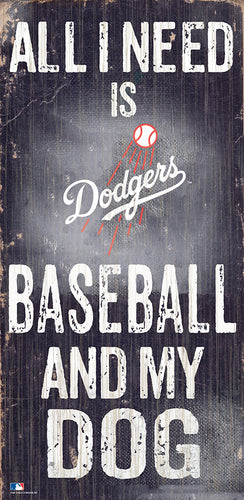 Los Angeles Dodgers Baseball and My Dog Sign