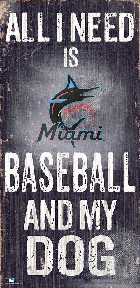 Miami Marlins Baseball and My Dog Sign